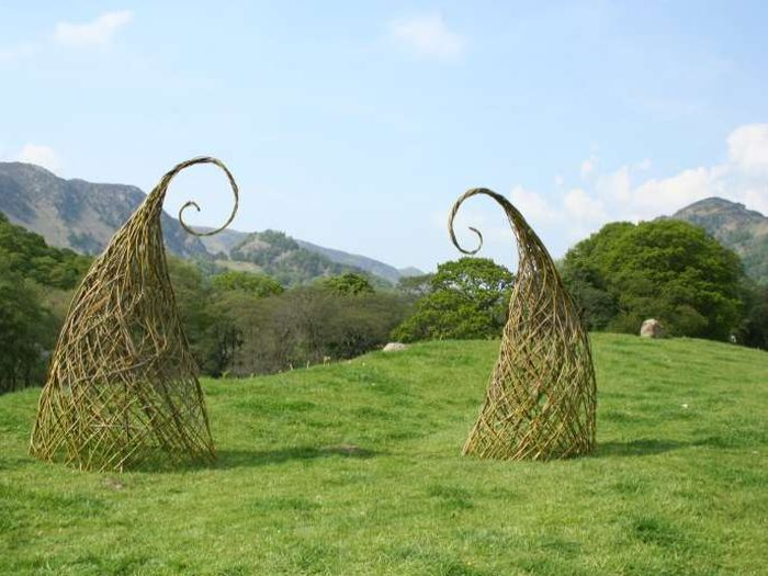 Willow sculptures in the hills